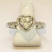 Load image into Gallery viewer, Diamond White Heart Gold Ring Band
