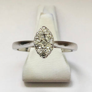 Diamond White Gold Marquise Shaped Ring
