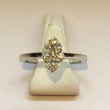 Load image into Gallery viewer, Diamond White Marquise Gold Ring Band