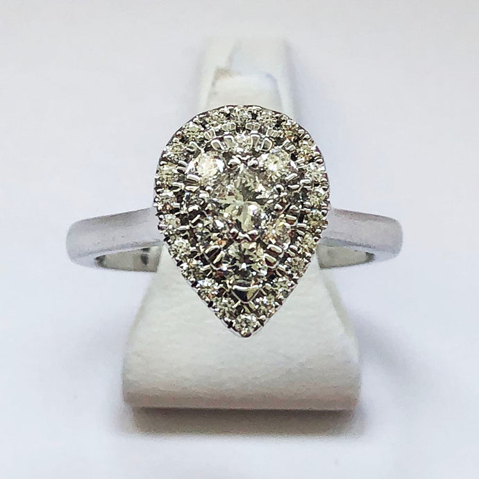 Diamond White Gold Pear Shaped Ring