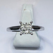 Load image into Gallery viewer, Diamond White Gold Princess Cut Ring - Product Code - B423