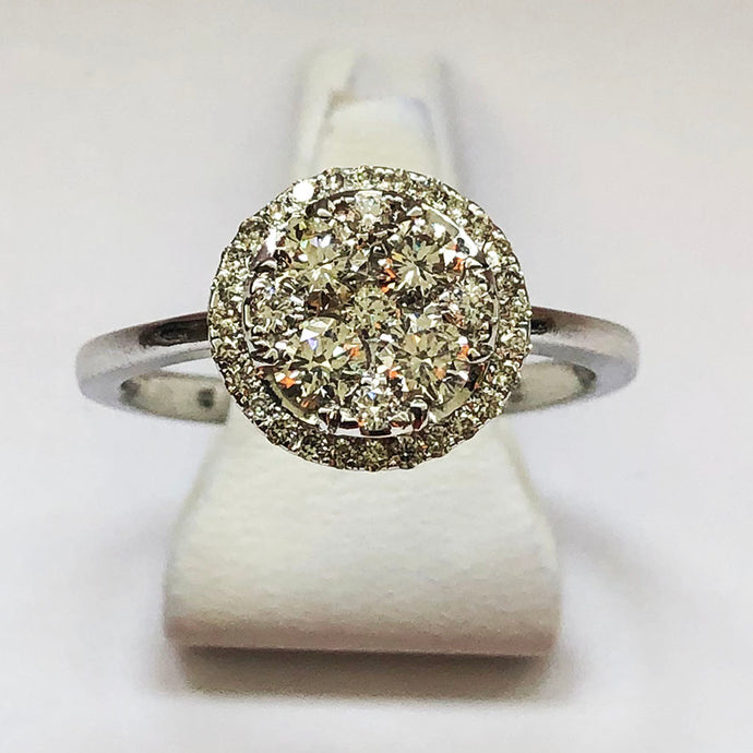 Diamond White Gold Round Shaped Ring