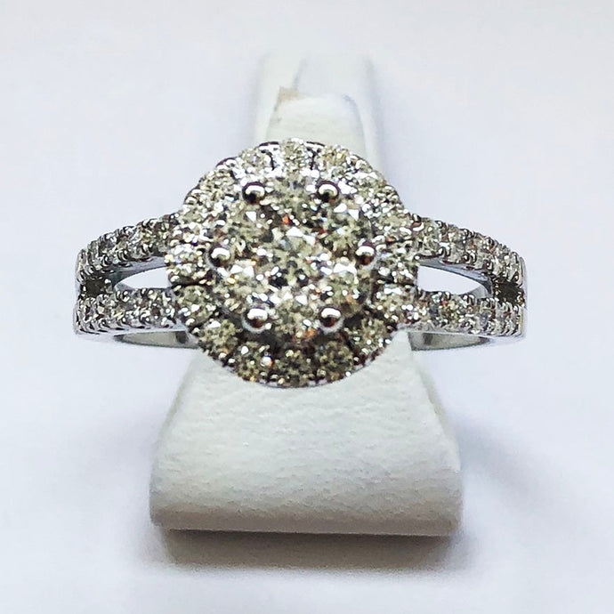 Diamond White Gold Round Ring