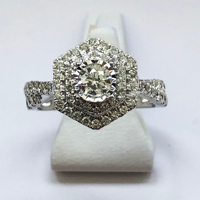 Diamond White Gold One Carat Ring
