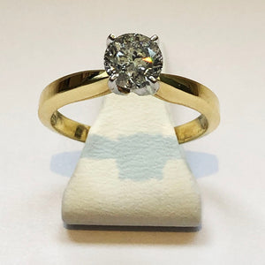 Diamond Yellow Gold Solitaire Ring