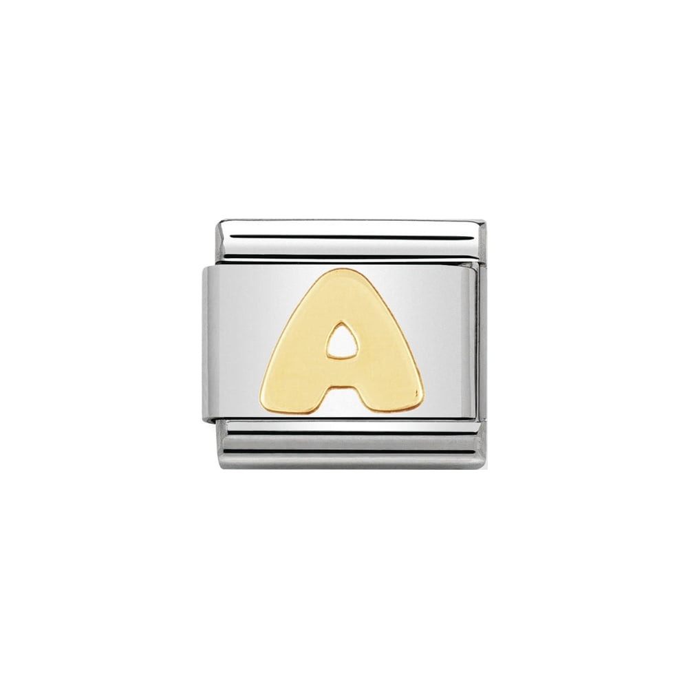 Nomination Gold Alphabet Letter Charms - A - Z Available Here