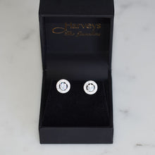 Load image into Gallery viewer, Halo Silver Stud Earrings