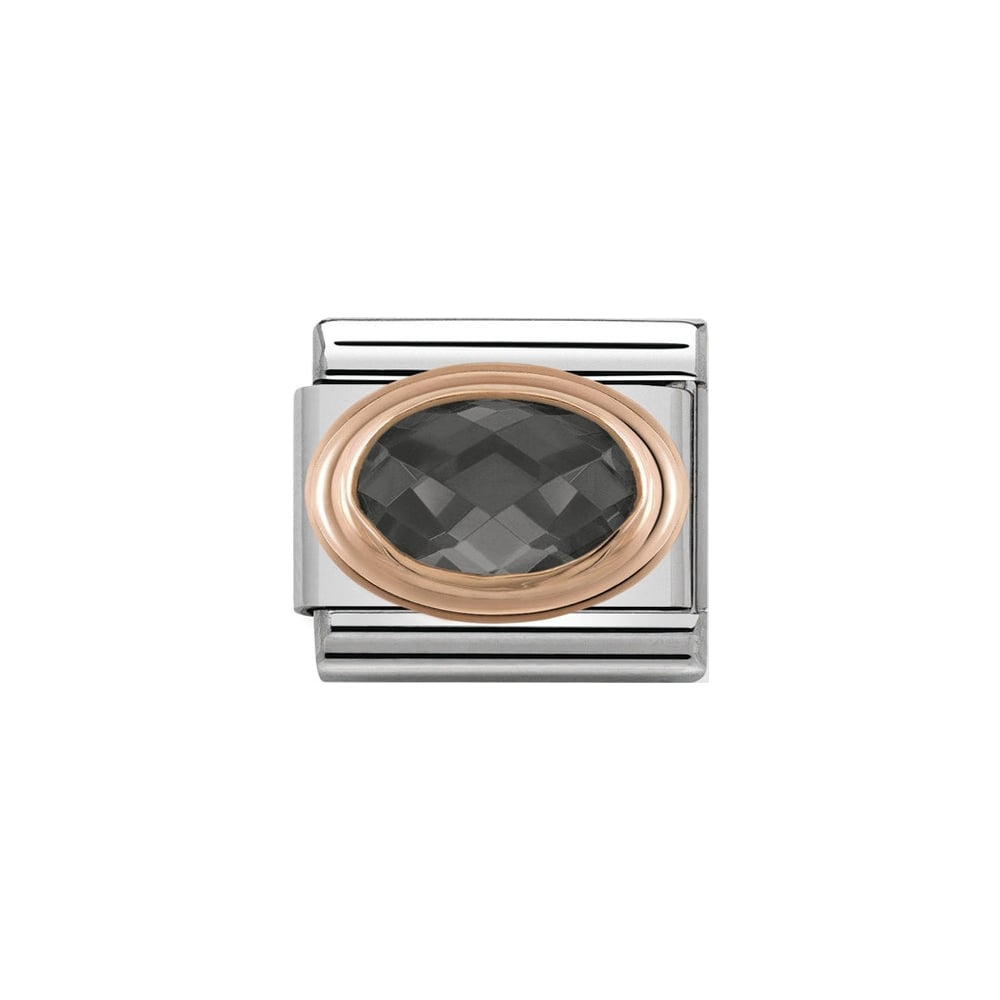 Nomination Rose Gold Black CZ Stone Charm - Product Code - 430601-011