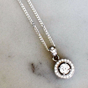 Halo Pendant Silver Necklace