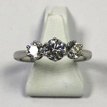 Load image into Gallery viewer, Diamond White Gold Triology Ring