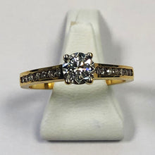 Load image into Gallery viewer, Diamond Yellow Gold Solitaire Ring