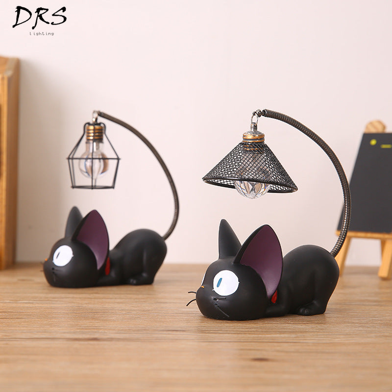 Creative Resin Craft Magic Desk Lamp Gigi Cat Nightlight Presents Decor Home Ornament for Boys Girls Table Lights Lamparas Para