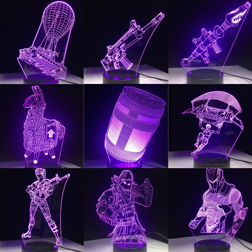 Game 3D LED Lamp