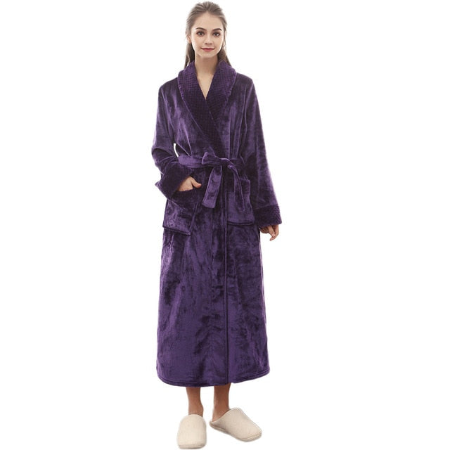 Winter Long Sleeved Bathrobe