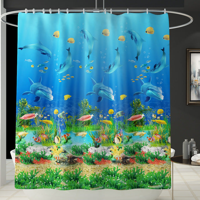 Polyester Shower Curtain Set