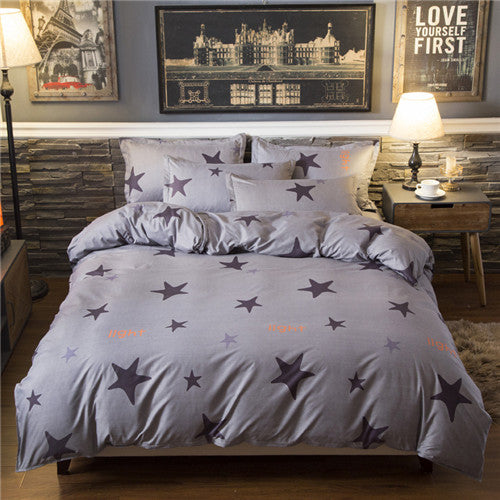 red heart bed linen set
