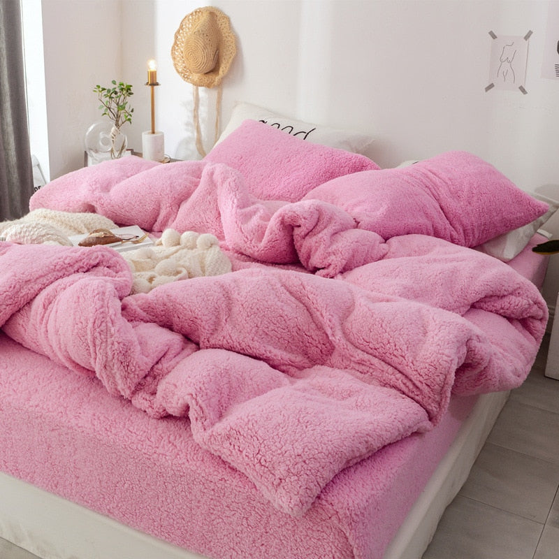 Solid Lamb Cashmere bedding set