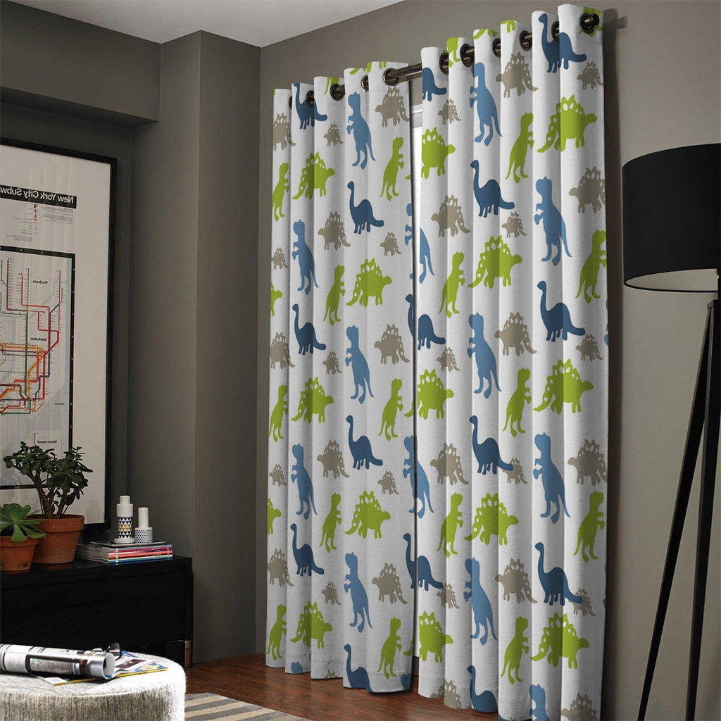 Cartoon Dinosaur Curtains