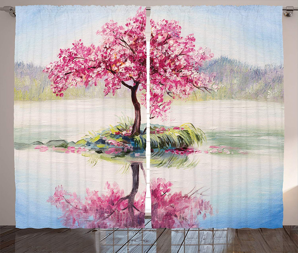 Blooming Japanese Cherry Tree Curtains