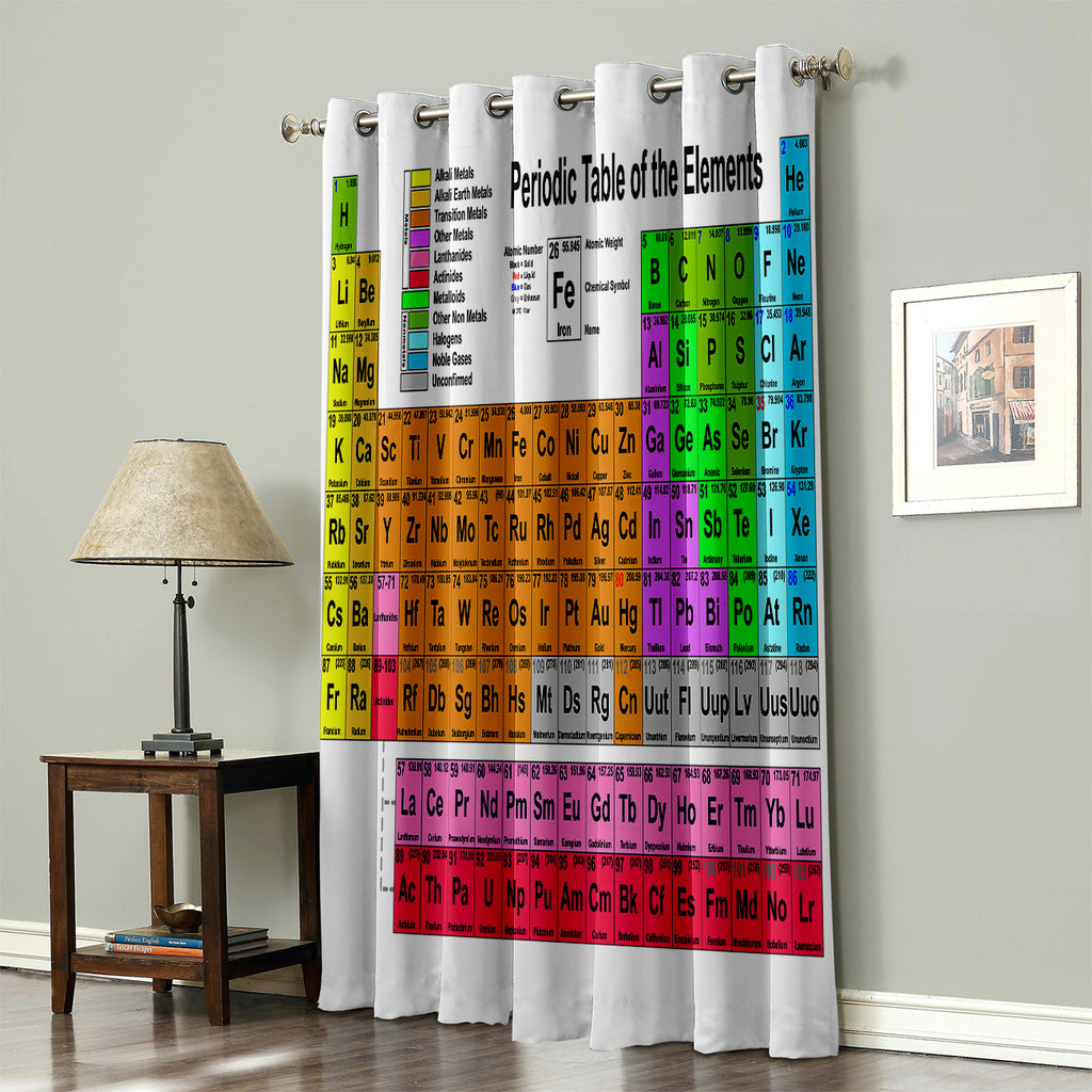 Periodic Table Bedroom Curtains