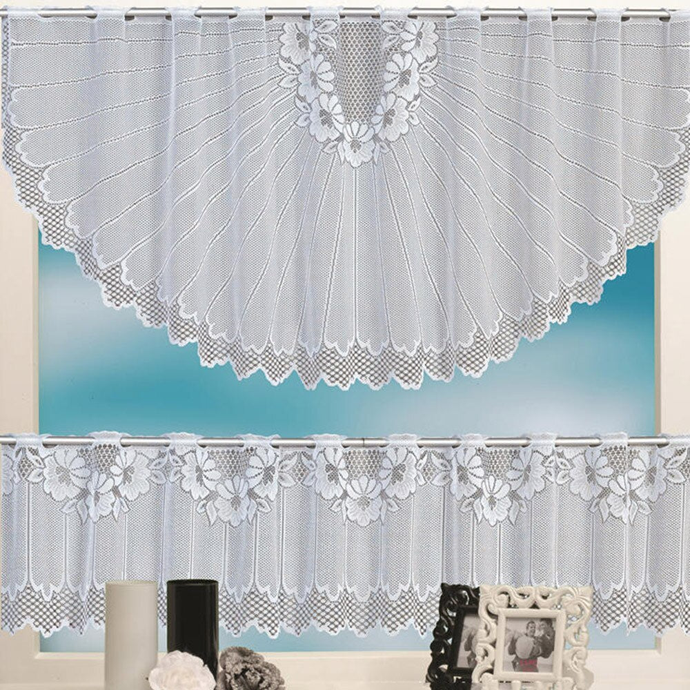 Lace Tier Curtain Set