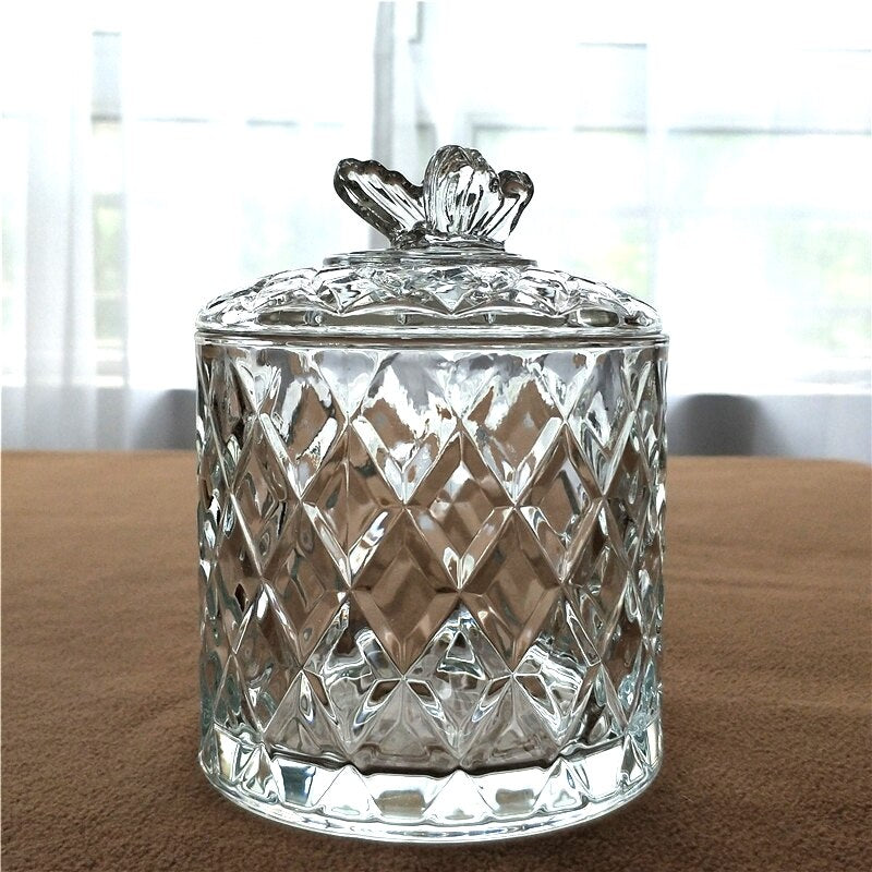 Butterfly Lid Glass Jar