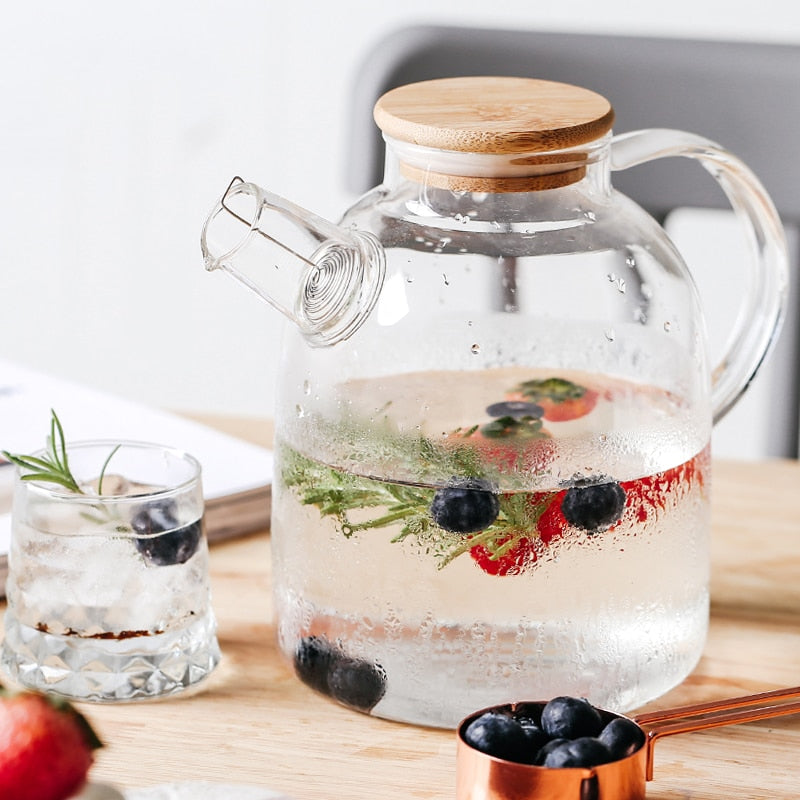 Transparent Glass Teapot