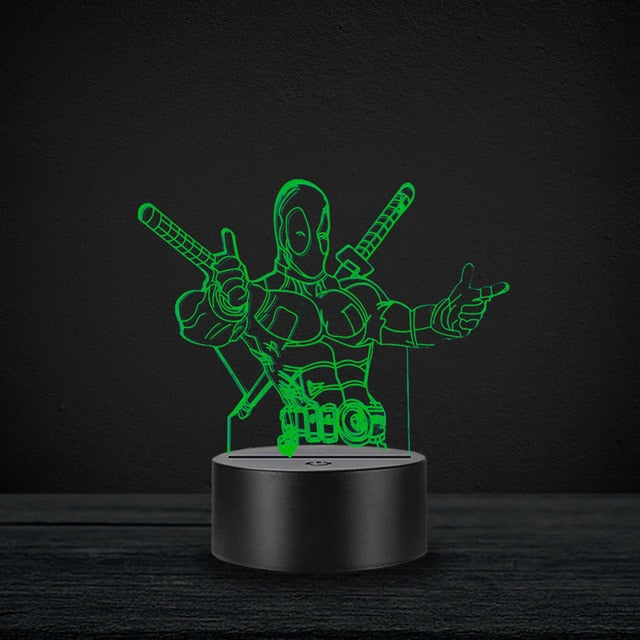 3D Marvel Night Light