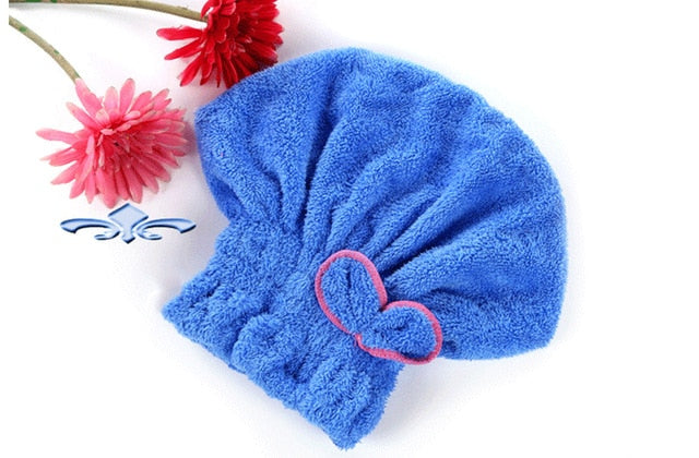 Shower Cap Wrapped Towels