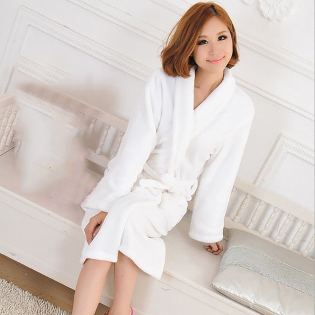 Flannel Bath Robe Sleepwear