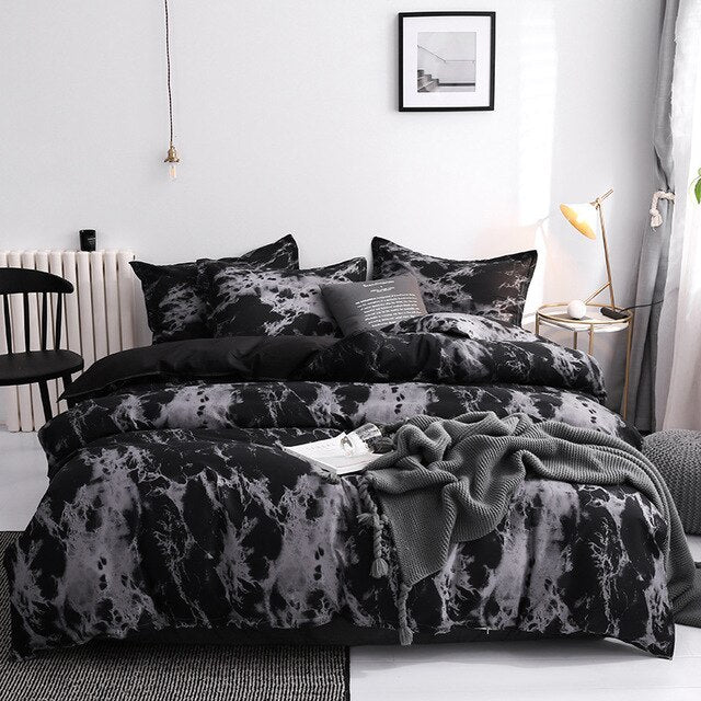 Saoltexile Duvet Cover King Size Queen Size Comforter Sets Leopard Printing Bedding Set AB#196