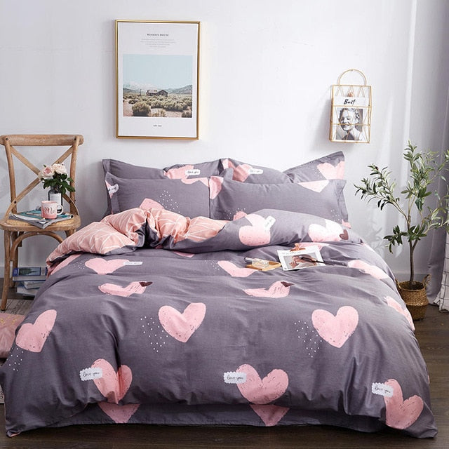 100% Cotton King Queen size Bedding Set Duvet Cover Bed sheet Flat sheet Bed set Pillowcases ropa de cama parure de lit