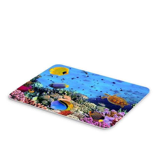 50*80CM Mediterranean Ocean Beach Style Bathroom Carpet Bath Mat Set 3D Printed Bathroom Floor Carpet Toilet Rugs WC Doormat