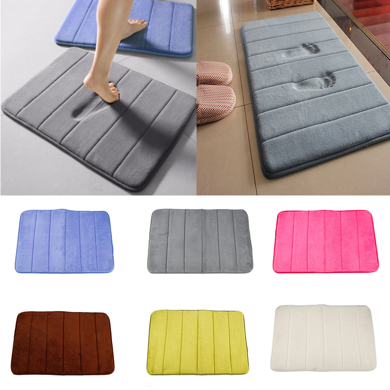 New 9 Colors Home Memory Foam Bath Spa Rug Shower Mats Carpet Water Absorbent Non Skid Bathroom Mat Set Kitchen Accessories