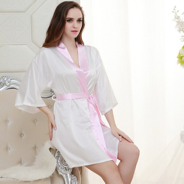 Satin Lace Bathrobe