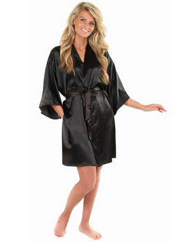 Faux Silk  Bath Robe