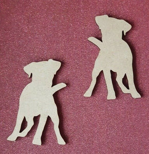 Laser Cut Wood MDF Terrier Dog Shape - Personalised - Craft, Rustic, - Sawfish Laser