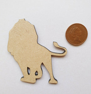 Laser Cut Wood MDF Lion  - Craft, Zoo Animals - Sawfish Laser