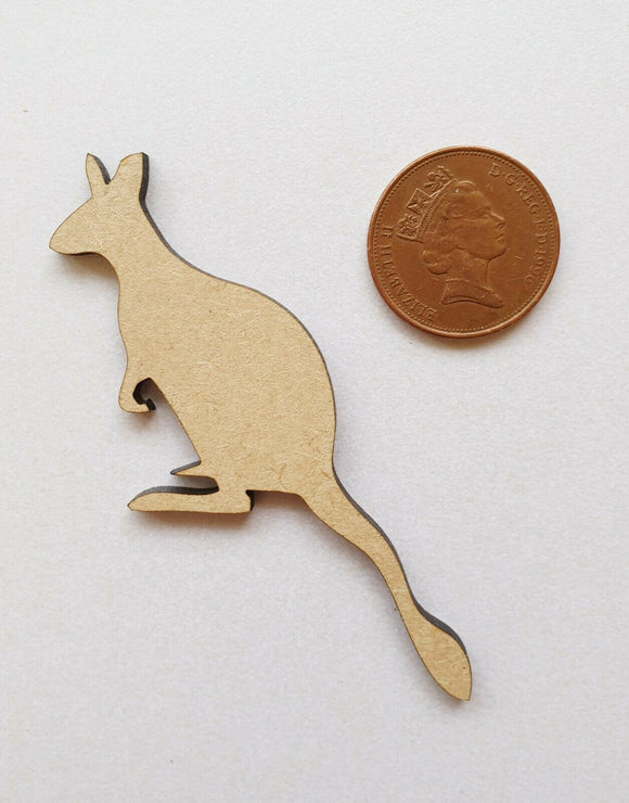 Laser Cut Wood MDF Kangaroo  - Craft, Zoo Animals - Sawfish Laser