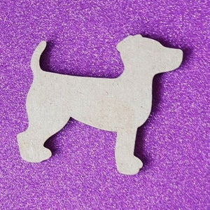 Laser Cut Wood MDF Puppy Dog Shape - Craft, Rustic, Christmas, - Sawfish Laser