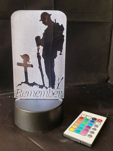 WW1 Remembrance Lest We Forget Centenary 1914-1918 Tommy Soldier Armistice - Sawfish Laser