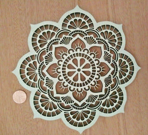Laser Cut 4mm MDF Wood Mandala Rustic Boho Country Farmhouse - Sawfish Laser