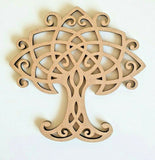 Laser Cut Wood MDF Celtic Knot Tree  -  40mm to 100mm, Craft