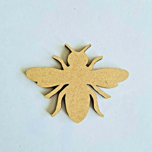 Laser Cut Rustic Wooden MDF Bee -   40mm to 100mm