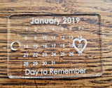 Laser Cut Engraved MDF Oak or Acrylic - Save The Date Personalised Keyring Gift - Sawfish Laser