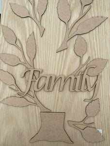 STUNNING 'OAK FAMILY TREE' WALL ART - CRAFT RUSTIC FARMHOUSE MDF