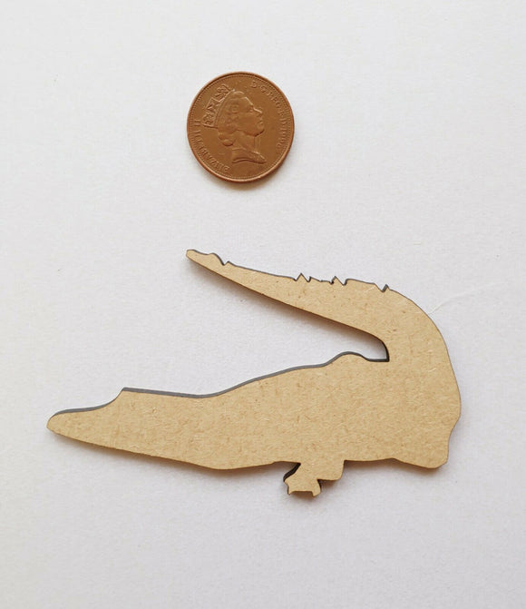 Laser Cut Wood MDF Alligator Crocodile  - Craft, Zoo Animals - Sawfish Laser