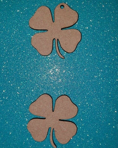 Laser Cut MDF Irish Shamrock, 4 leaf Clover  -   40mm to 100mm, Nordic, Craft - Sawfish Laser