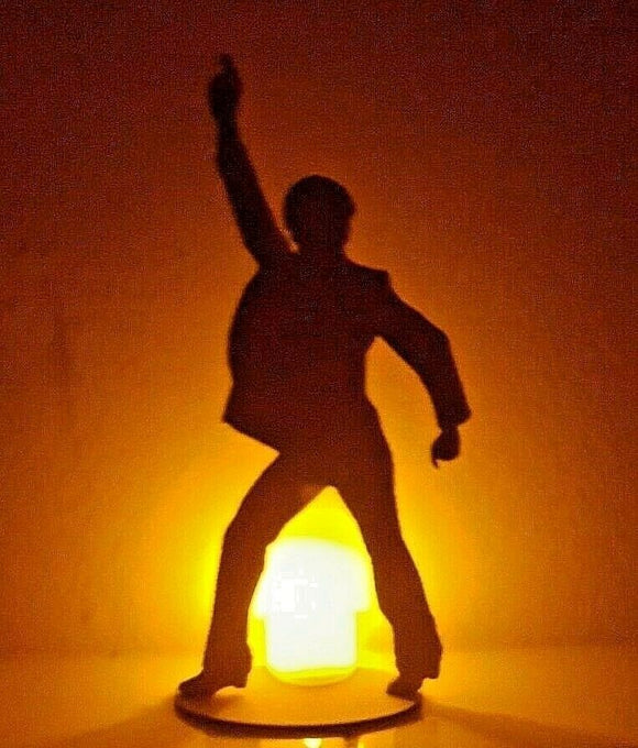 John Travolta Silhouette LaserCut Perspex Acrylic Saturday Night Fever Film Icon - Sawfish Laser