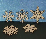 Laser Cut Wood MDF Snowflakes  -   40mm to 100mm, Nordic, Craft, Christmas - Sawfish Laser